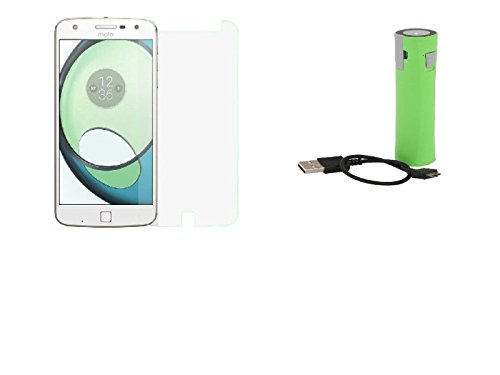 Cell Planet's Moto Z Play Compatible High Quaity (Temper Glass & 2600 MAH Power Bank) CP-5253