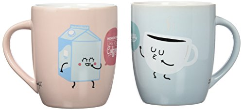 Mr. Wonderful - Lote de 2 tazas con diseño How do you like your coffe