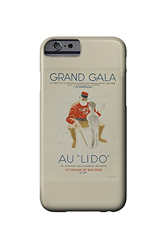 Grand Gala au Lido Vintage Poster (artist: Leonetto Cappiello) France c. 1938 (iPhone 6 Cell Phone Case, Slim Barely There) -