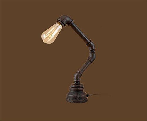 Tabellenlampe LOFT Retro industriellen Wind Schlafzimmer Nacht Amerikanischen bar tischlampe Restaurant persönlichkeit kreative Eisen wasserleitung Lampe (Größe: 100 * 420mm) Desktop Tischlampe -