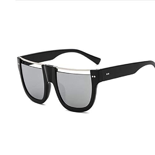 SIMINGSHUAI Sonnenbrille Herren Damen Halbrandlos Sonnenbrille Schwarz Gestellbrille G D