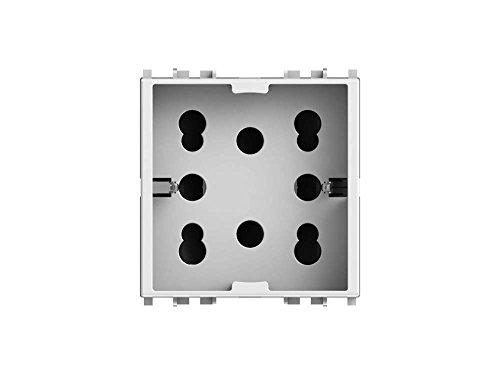 4Box 4B.V14.H21 Presa Multistandard 1 Schuko o 2 Bipasso...