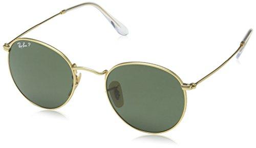 Ray-Ban Polarized Round Men's Sunglasses - (0RB3447112/5850|50 Polar Green lens)