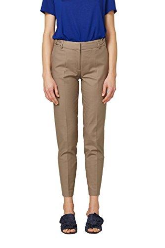 Damen Stretch-wolle Slim Pant (ESPRIT Collection Damen Hose 028EO1B011, Braun (Taupe 240), 32)