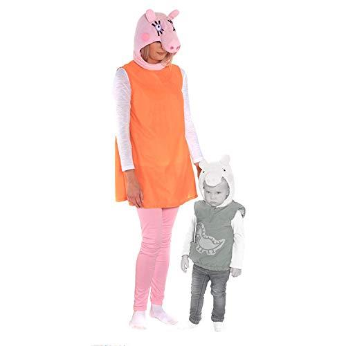 Peppa Kostüm Kinder Pig - Mama Wutz Peppa Wutz Kostüm Erwachsene Damen