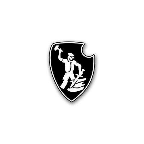 Aufkleber / Sticker -sPzAbt 507 schwere Panzer Abteilung Tiger Panzereinheit Einheit Panzerkampfwagen Wk WH Deutschland Militär Wappen Abzeichen Emblem 5x7cm #A2625 (Tiger-emblem)