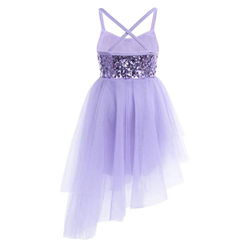Baby Mädchen Sleeveless Pailletten Tüll Ballett Tanzen Trikot Kleid Dancewear Gymnastik Workout Ballerina Fairy Party für 2-12Years M