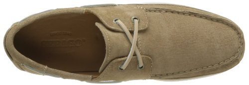 Sebago Canton Two Eye, Chaussures bateau homme Beige (Taupe Suede)