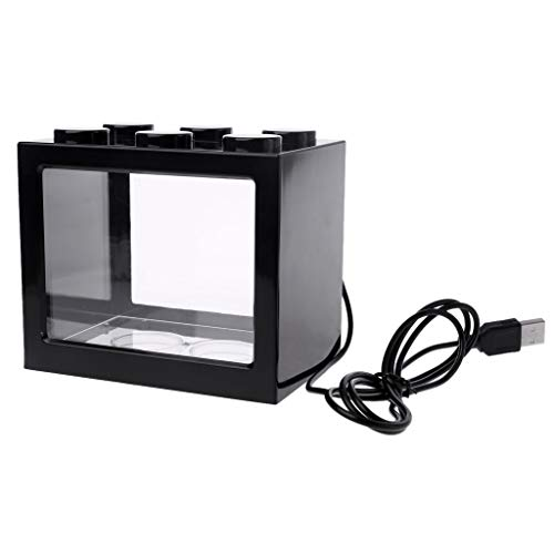 Jiay Mini acuario USB acuario Luces LED pecera Betta