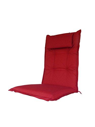 8-cm-luxus-hochlehner-auflage-mit-kopfkissen-sun-uni-rot-pure-home-garden-120-x-46-cm