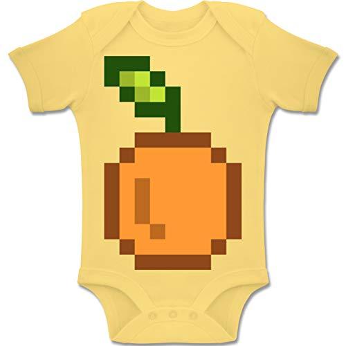 Nerd Babys Kostüm Kindergarten - Shirtracer Karneval und Fasching Baby - Pixel Orange - Karneval Kostüm - 1-3 Monate - Hellgelb - BZ10 - Baby Body Kurzarm Jungen Mädchen