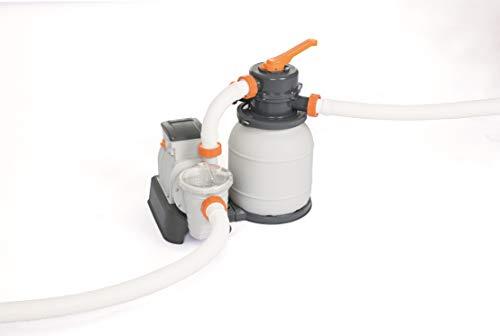 Bestway Flowclear Filtre à Sable pour Piscines Hors Sol 5 300 litres/Heure 58497, Gris, 480 x 528 mm