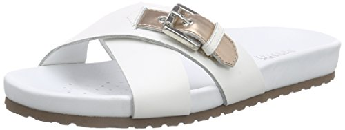 GeoxD ZAYNA C - Ciabatte Donna , Bianco (Weiß (WHITE/ROSE GOLDC1ZH8)), 39.5