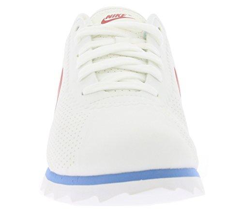 Basket Nike Cortez Ultra Moire en peau vegane blanche à trous Weiß