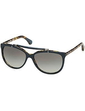 Emporio Armani Unisex-Erwachsene 4039 Sonnenbrille, Schwarz (Top Petroleum On Havana 526811), 56