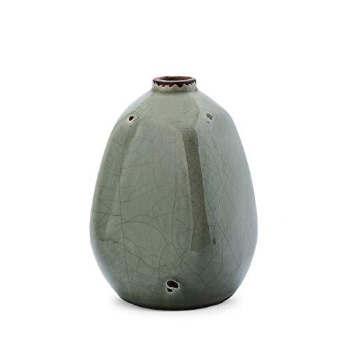 Black velvet studio decorativo vaso in ceramica di colore verde - moderno vaso vintage per la casa ufficio sala conferenze modello etnico atene 10 * 10 * 15cm.