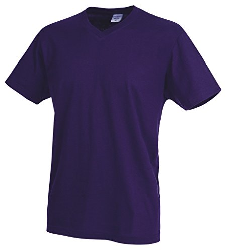 Stedman Apparel Herren T-Shirt Classic-t V-neck/st2300 Deep Berry
