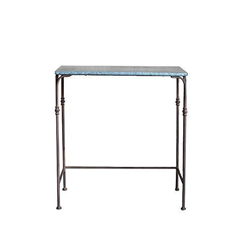 Yxbhj bynn stand di fiori in ferro battuto, mensola vintage/tavolo di fiori/vecchio tavolo da supermercato decorativo (dimensioni : m)