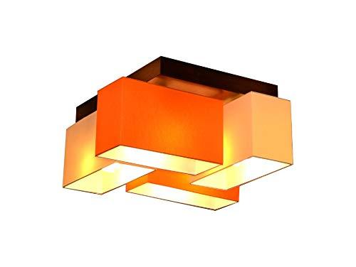 Deckenlampe Deckenleuchte Milano B4D Lampe Leuchte 4 flammig verschiedene Varianten (Creme-Orange)