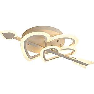 LED Deckenleuchte Wohnzimmer Schlafzimmer Moderne Lampe Deckenbeleuchtung Romantische Kreative Hochzeit Raumlampe Herzform Design Eisen Acryl Regenschirm Deckenleuchte Deckenbeleuchtung 32W Warmes Li