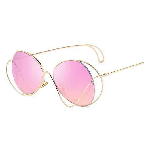 Junecat Unisex Metallrahmen Hohl Sonnenbrillen Männer Frauen UV400 Outdoor-Brillen PC Taukappen Sonnenbrillen