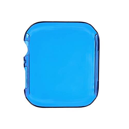 CHshe Schutzhülle für Apple Iwatch Series 5 44Mm, 1Pc Ultraflache Klare Pc Display Schutzhülle Stoßstangen Shell (Blau) -