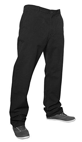 Pantalon chino coupe droite 100%  coton pour homme Noir - Noir