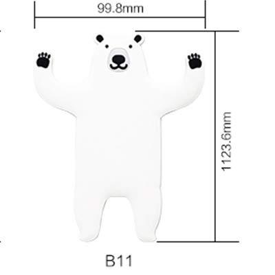 Gu3Je Niedliche Tierform Selbstklebende Wand Tür Haken Aufhänger Tasche Schlüssel klebrig (1 Packung mit 3 Stück) Weiß Hund (Kirsche Schrank Glas Türen Mit)