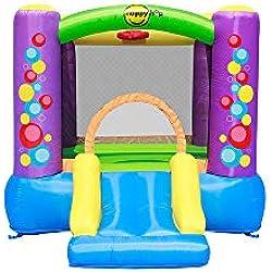 Happy Hop- Bubble Slide Bouncer, 9201B, Multicolore