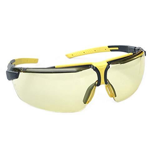 WXJWPZ Schutzbrillen, KratzbestäNdigen GläSern, Seitenschutz 400 Uv-Schutz FüR Baustelle, Labor, Werkstatt Und Fahrrad-Fahren