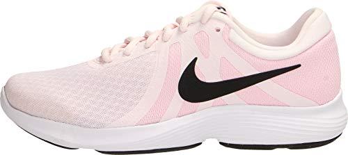 Nike Wmns Revolution 4 EU, Scarpe da Atletica Leggera Donna, Multicolore (Pale Black/Pink Foam/White 604), 37.5