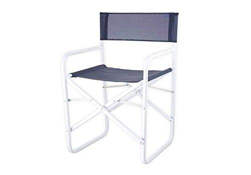 Bica ciack sedia da regista tessuto metallo blu bianco prezzi e