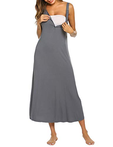 3df42366b MAXMODA Camisón Embarazada Maternidad Lactancia Hospital Pijama Mujer Embarazada  Ropa para Dormir.