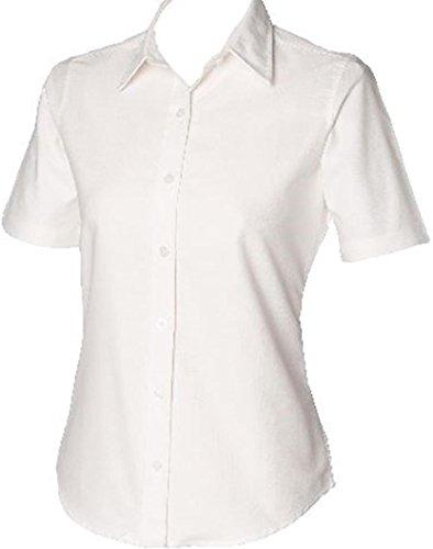 Henbury Damen Bluse Weiß