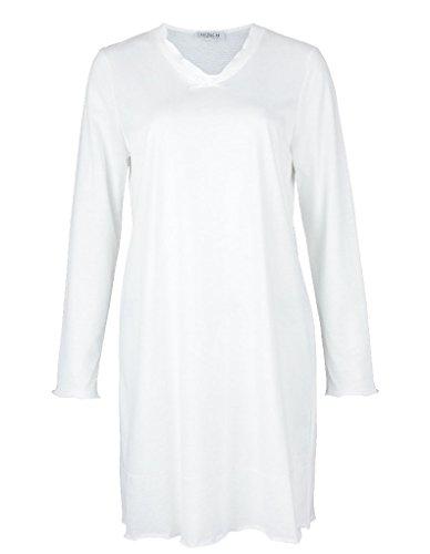 Rösch Damen Nachthemd Weiß