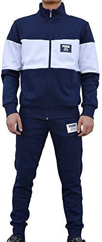 Puma Rebel Block Herren Trainingsanzüge Blau 85156306 (XL) (Pant Fleece-6-pocket)