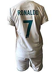 Conjunto Equipacion Camiseta Pantalones Futbol Real Madrid Cristiano Ronaldo 7 Replica Autorizado...