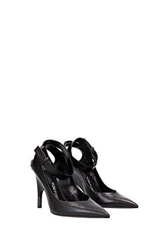 116W1817TSCABLK Tom Ford Sandale Femme Cuir Noir Noir