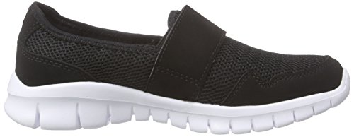 Kappa Faro Light Footwear Unisex, Mesh/Synthetic, Mocassins mixte adulte Noir (Black/white)