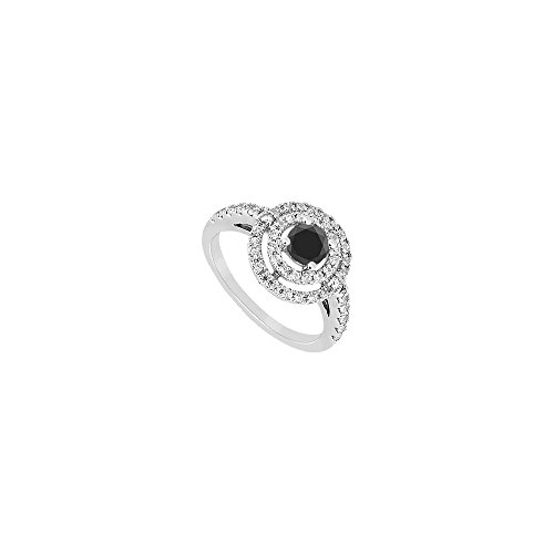Black Diamond Ring 14K White Gold 1.75 CT Diamonds