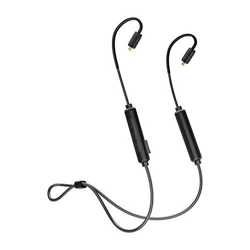 MEE Audio BTX2 Bluetooth 5.0 Wireless Universal MMCX Adapter mit QUALCOMM®APTXTM Low Latency bis zu 8,5 Stunden Akkulaufzeit und schweißfest (IPX5) - Schwarz Universal Wireless Adapter