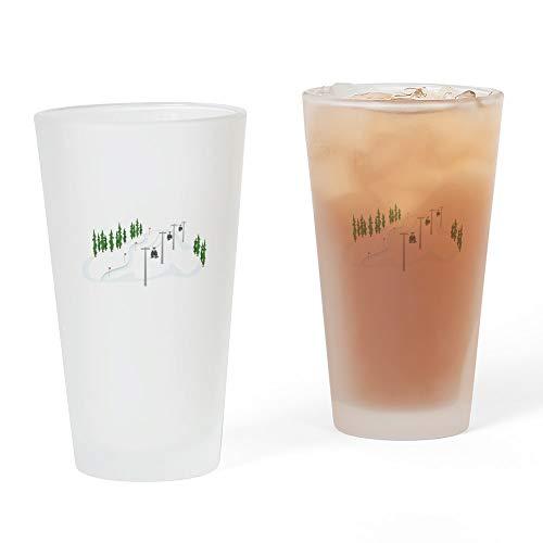 CafePress Pint-Glas mit Skilift-Motiv, 473 ml Trinkglas frosted