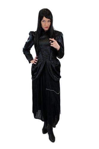 Damenkostüm Kleid 80er New Wave Gothic Lolita Barock Hexe Vampirin Vampir Mittelalter Gr. 38, S (Die Wicked Of Oz Kostüme)