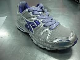 DIADORA Empire W, scarpa jogging donna, grigio-viola, Taglia: 36 - 5,5 grigio-viola