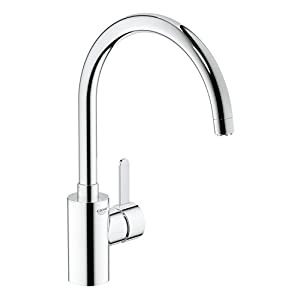 GROHE 31180000 Eurosmart Cosmopolitan Kitchen Tap (High Spout, Low Pressure and Swivel Range 160 Degree)
