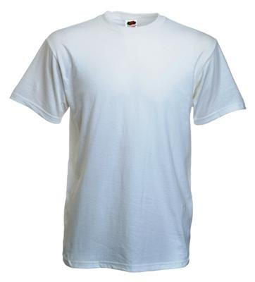 10 Stück Fruit of the Loom Heavy Cotton T-Shirts in Weiss, Grösse M -
