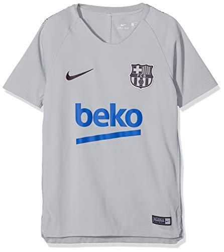 Nike Kinder FC Barcelona Breathe Squad T-Shirt, Wolf Grey/Purple Dynasty, S