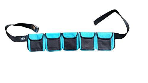 Ceinture de lestage à poches pour plongée sous-marine (de couleur bleue, 5 poches, taille M)