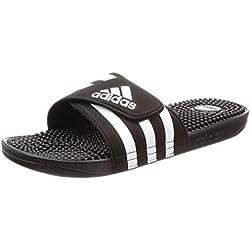 adidas Adissage Zapatillas de deporte Unisex niño, Negro (Negbás/Ftwbla/Negbás 000), 38 EU (5 UK)