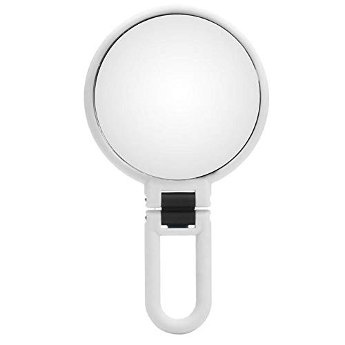 TuToy 10X Magnification Adjustable Make Up Mirrors Double Sided Vanity Folding Mirror Bathroom Travel - weiß